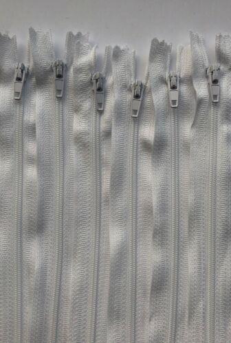 No.5 White Nylon Closed End Cushion Zips 66cm Packs 10//25//50//100