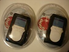 2-GE Black Leatherlook iPod MP3 MP4 AAC Case NEW #HO97558