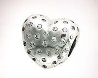 Authentic Pandora Sparkle Of Love Charm W/ Pandora Tag & Hinged Box 791241cz