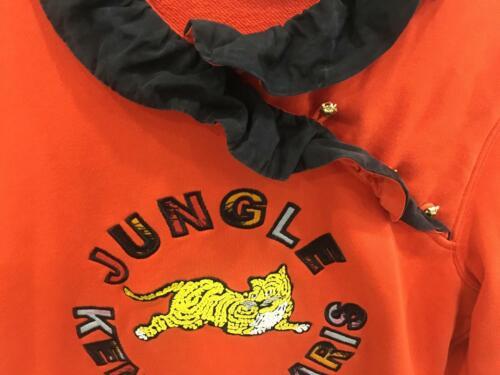 in S arancione ricamo taglia seta X giungla ricamato con Kenzo Tiger m Felpa Felpa H XxHq6Xaw