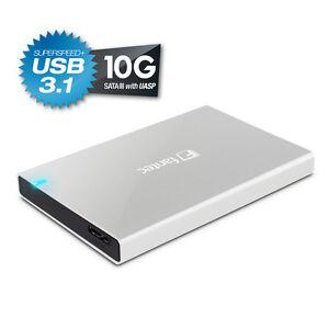 500GB-FANTEC-ALU-25B31-silber-ext-USB-3-1-Festplatte