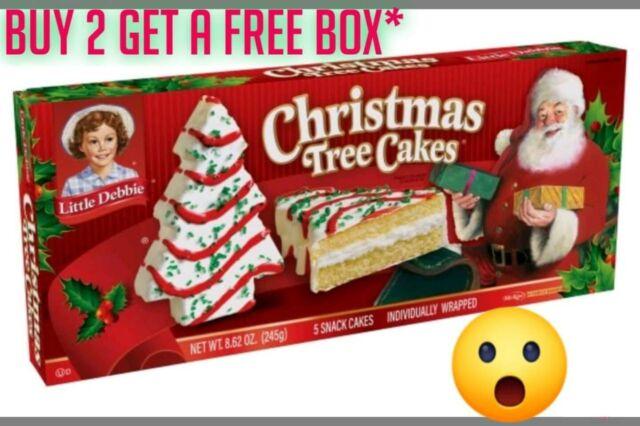3 Boxes Little Debbie Vanilla Christmas Tree Cakes🎄 8.62oz Priority📬  SHIPPING!