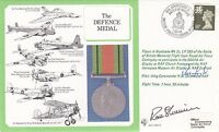 DM18 Defence Medal  Hurricane signed Shimmons Pilot and  Wg Cdr Learoyd VC