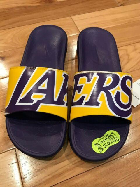 half off 09764 0089f Nike Benassi Solarsoft NBA La Lakers Men's Slide 917551 Size 10