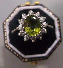 Women's 9ct Gold Demantoid Garnet Stone Ring W1.9g Size Q Stamped Quality