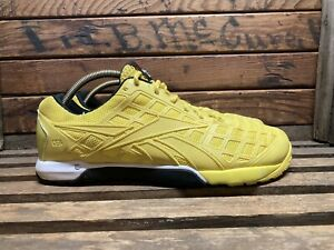 Reebok-Crossfit-CF74-Nano-4-0-Mens-sz-11-M-Training-Shoes-Yellow-Sneakers