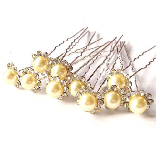 Haarnadeln Hochzeit Curlies Haarschmuck Perlen Set Brautschmuck Haarkamm