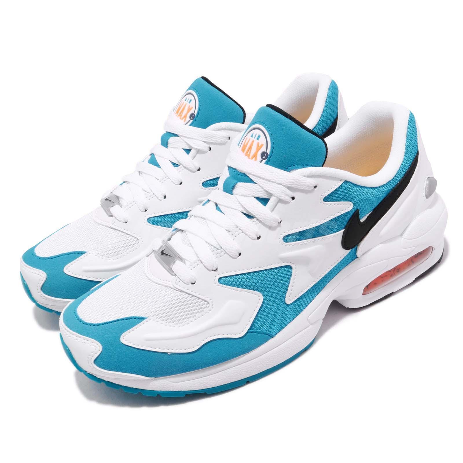 Nike Air Max 2 Light bluee Lagoon Laser Laser Laser orange White Men Running shoes AO1741-100 f13fda