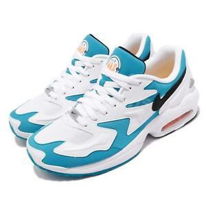 Details about Nike Air Max 2 Light Blue Lagoon Laser Orange White Men Running Shoes AO1741 100