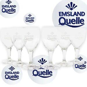 6x-EMSLAND-QUELLE-Glaeser-Set-Wasser-Glas-Stoelzle-Milano-Saft-Bar-Restaurant-Neu