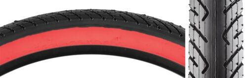 Sunlite Slick Bicycle Tires//Urban//26X2.125//559//Wire//Bk//Red//40//1062