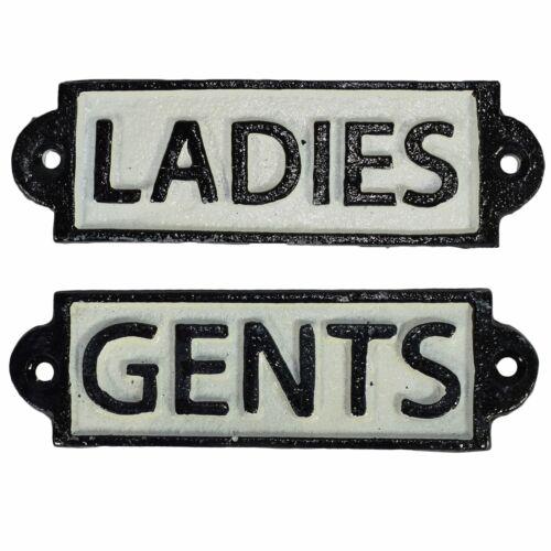 Damas /& Caballeros baño signo de hierro fundido Placa Puerta Pared Hotel Bar Cafetería Tienda Pub