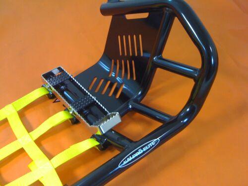 Raptor 660  Nerf Bars   Pro Peg Heel Gaurds   Alba Racing   Black Yellow   203