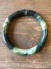 Vintage Jadeite Bangle Bracelet 57mm Inner Diameter