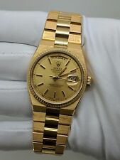 1980 Rolex OysterQuartz Day Date 19018 18K Gold 36MM Watch Rolex President
