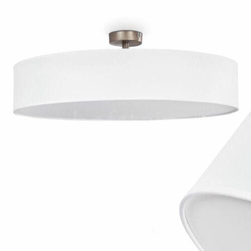 Decken Lampen Wohn Schlaf Zimmer Strahler Flur Küchen Leuchten Stoff weiß 60cm