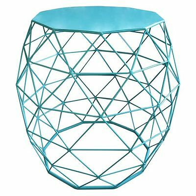 NEW Phil Bee Interiors Gauze Closed Blue Side Table