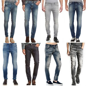B-Ware-Jack-amp-Jones-Selected-Herren-Slim-Skinny-Fit-Stretch-Jeans-Hose-Glenn