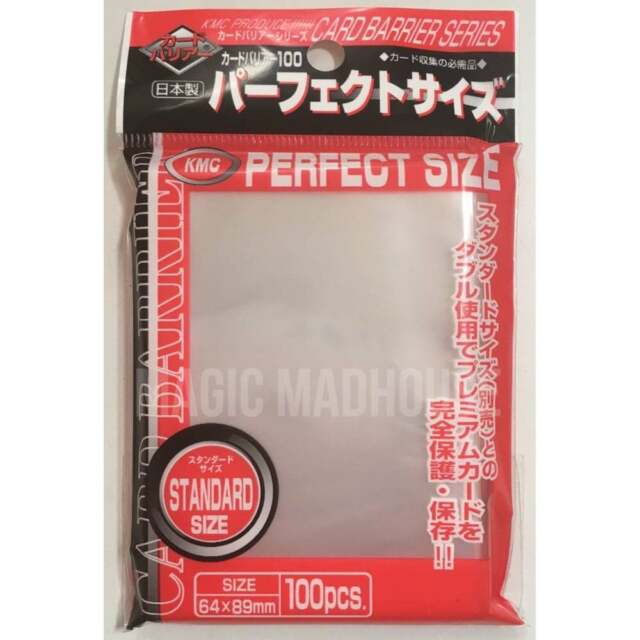 KMC 100 MTG CARD BARRIER SLEEVES DECK PROTECTORS - PERFECTSIZE perfect size