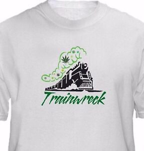 Train-Wreck-Strain-Cannabis-Marijuana-Weed-Pot-Leaf-T-Shirt-Any-Size-420-Vape