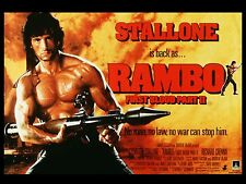 "Rambo First Blood part 2 16"" x 12"" Reproduction Movie Poster Photograph"