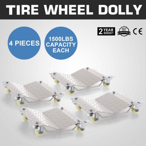4pcs Car Wheel Dollies Dolly Skate Car Van Positioning Trolley20 Lbs Per Dolly