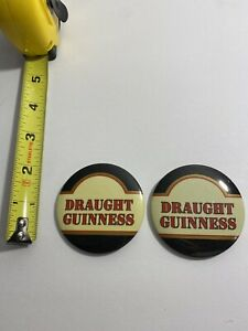 2 Vintage Beer Buttons Guinness Draught 1991