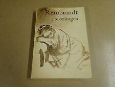 KUNSTBOEK / REMBRANDT - TEKENINGEN - BOB HAAK - LANDSHOFF