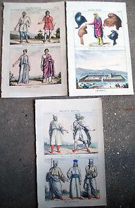1830-TRE-SPLENDIDE-INCISIONI-ORIGINALI-CON-ANTICHI-ABITANTI-DI-BABILONIA-TROJANI