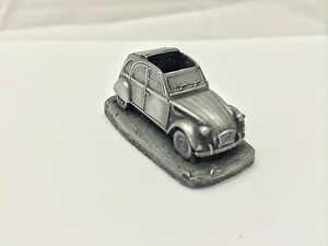 Citroen-2CV-ref37-Pewter-Effect-1-92-Scale-model-car