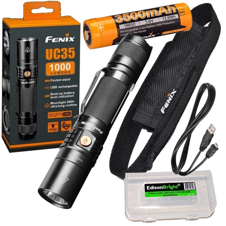 Fenix UC35 V2.0 2018 USB Rechargeable 1000 Lumen Lumen 1000 Cree XP-L HI V3 LED Flashlight 795f28