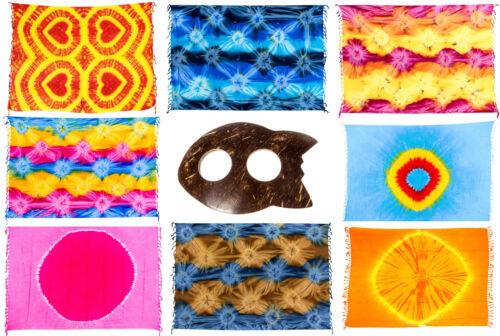 Strandtücher Mehrfarbig Gestreift inkl Sarongschnalle #1 Sarongs Pareos