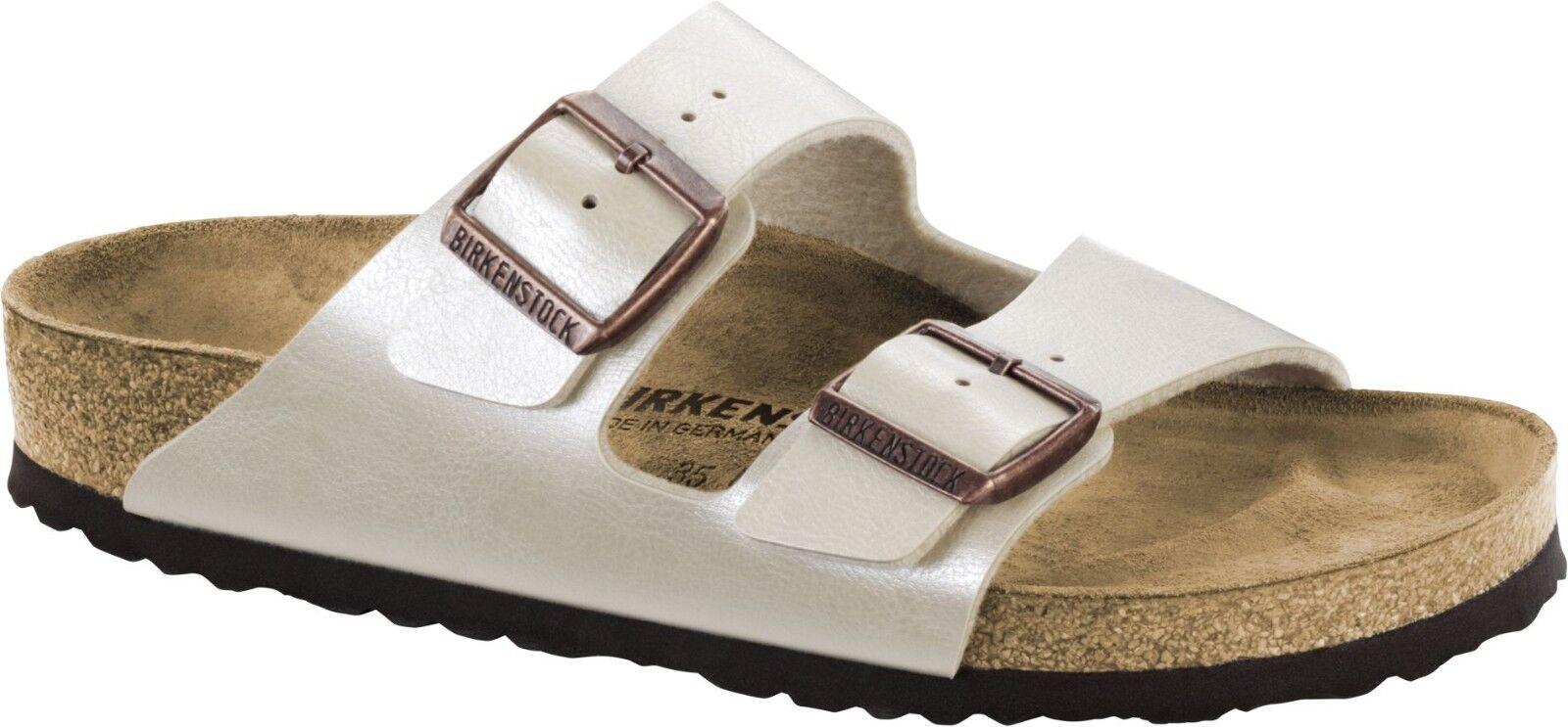Birkenstock Arizona Graceful 36-42 Pearl White Sandale Größe 36-42 Graceful Fußbett schmal ccaaff