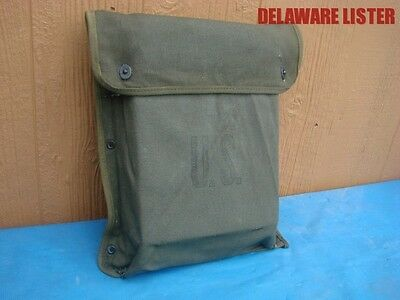 US Military Truck OD Green 2 Pocket Canvas Document Bag NOS New