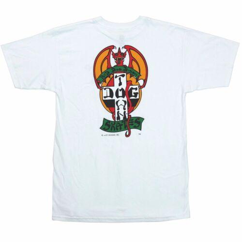 Dogtown Jim Muir RED DOG LOGO Skateboard T Shirt WHITE LARGE