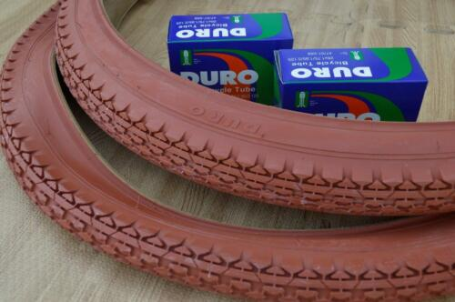 Beach Cruiser 26x2.125 Bicycle Tires /& Inner tubes Clay Brown Color 2 Two