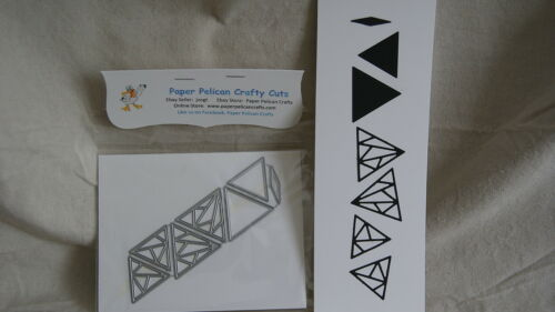 SET OF 7 CARBON STEEL CUTTING DIES GEOMETRIC ACCENT TRIANGLE NEW!