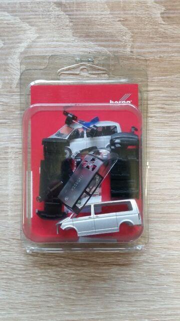 Herpa Minikit 012911 - 1/87 Vw T6 Bus - Silbermetallic - Neu