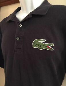 Rare Lacoste Polo Shirt Robert George Navy Vintage Sz 6 L Grunge Big