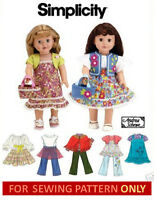 Sewing Pattern Make Doll Clothes Fits American Girl Mollykitjuliemckenna
