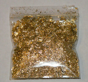Image Is Loading 1 Gram Gold Leaf Flake Huge Beautiful Flakes