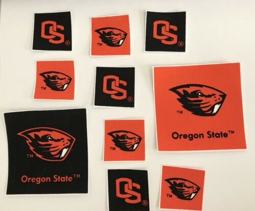 Sports Patches 10 Iron On Fabric Appliques Oregon State