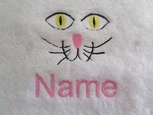 RIDING HAT Embroidered onto Towels Bath Robes Hooded with Personalised name