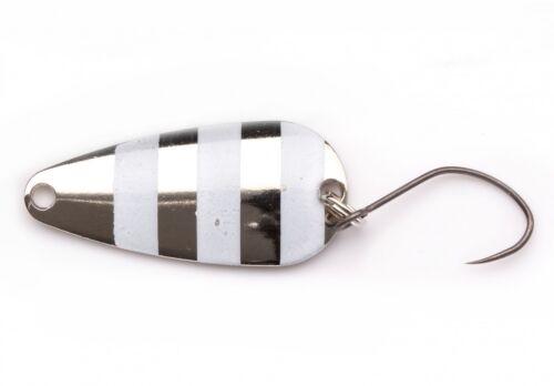 Forellenblinker G3 Striped Spoon 3g BlackFlagg Japanspoon Forellenspoon Area