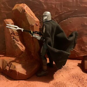Wired-Cape-for-The-Mandalorian-Black-Series-amp-SH-Figuarts-UK-Seller