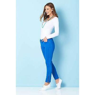 NEW handpicked by birds Womens Skinny Jeans Ankle Zip Jean Denim