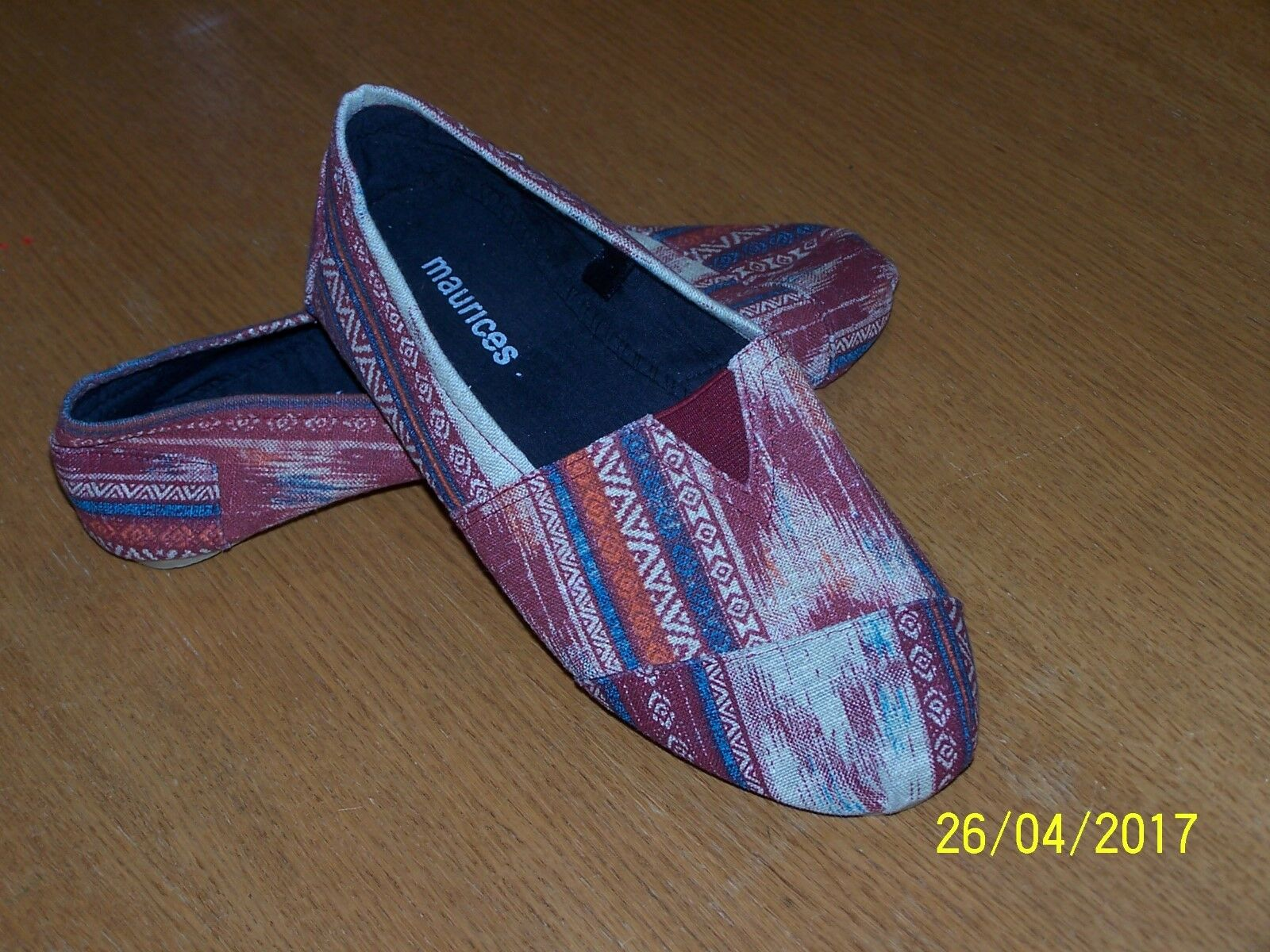 MAURICES BRAND SIZE MULTI-COLORED FABRIC BALLET FLATS SIZE BRAND 8M NWOB 2a4b41