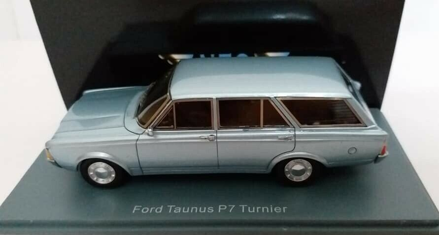 Modelo 1 43 Neo Ford Taunus P7b zählen Luz blu Metálico 1968