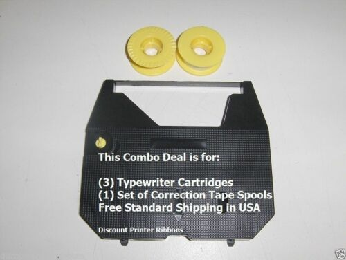 Correction Tape Value Pack Panasonic KXR310 3 Pack Typewriter Ribbon Cartridge