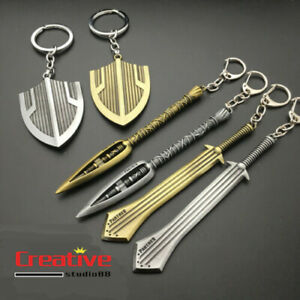 US-Avengers-Black-Panther-Erik-Killmonger-Shield-Keychain-Weapon-Metal-Pendant